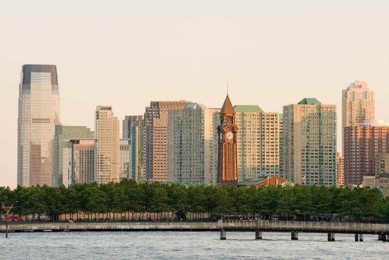 Tour d'horloge de Hoboken photographie stock