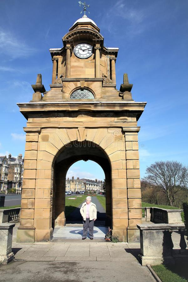 Tour d'horloge de Holbeck, Scarborough, Yorkshire, R-U photo stock
