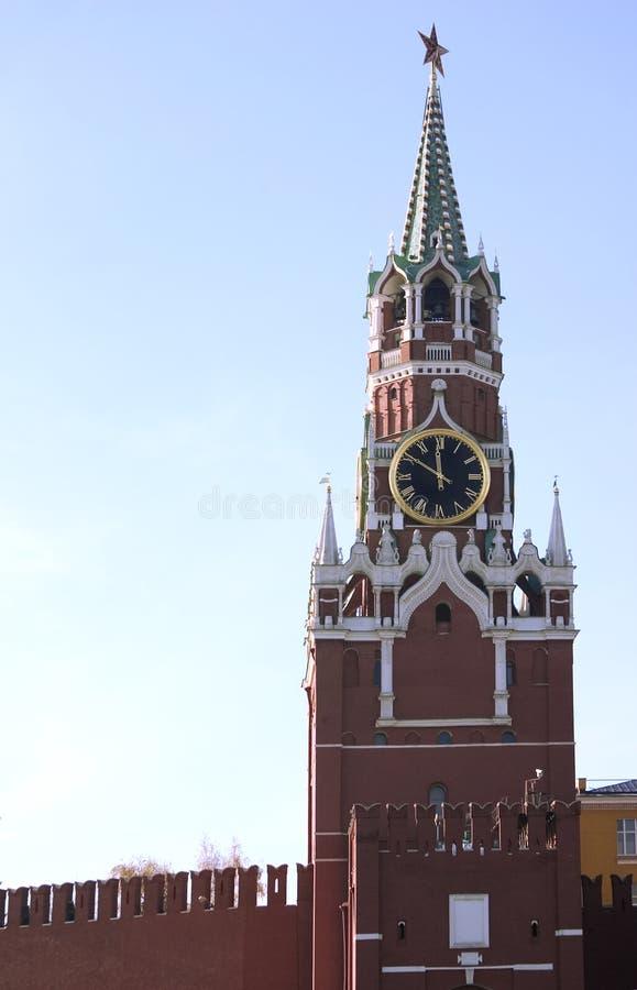 Tour d'horloge de Kremlin Moscou image libre de droits