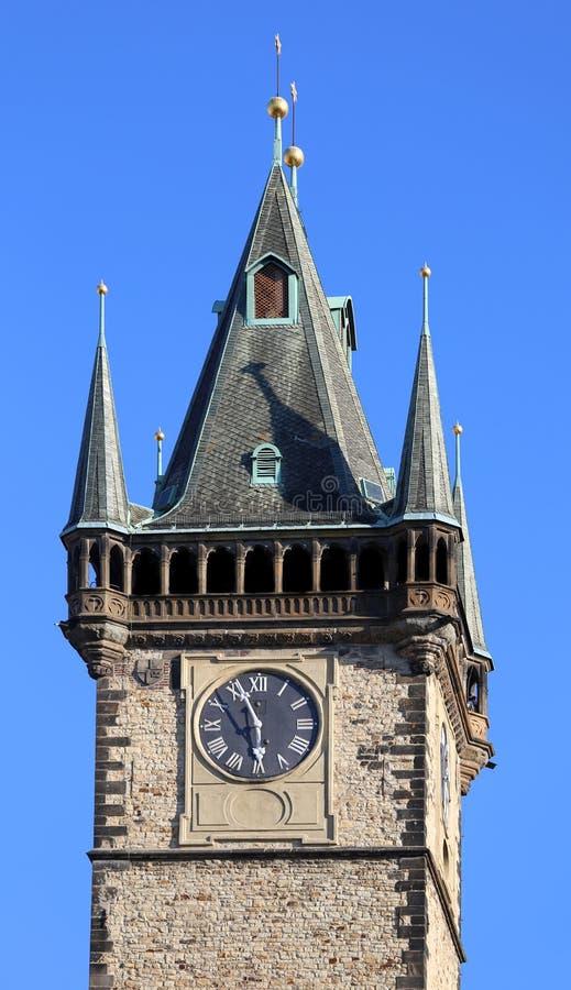 Tour d'horloge de la ville de Prague dans la République Tchèque en Europe photo stock