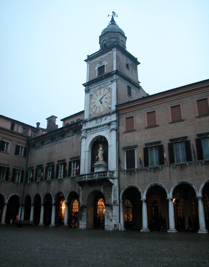 Tour d'horloge de Modène, Italie image libre de droits