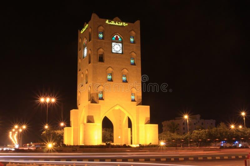 Tour d'horloge de Salalah Oman images stock