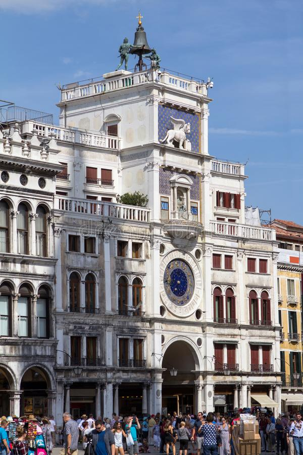 Tour d'horloge de St Mark Place, Venise images stock