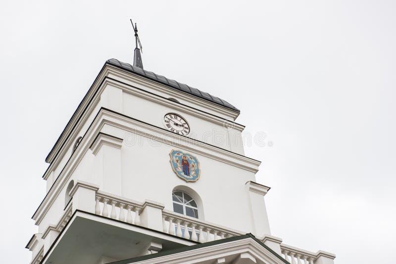 Tour d'horloge de vieille ville hôtel photos libres de droits