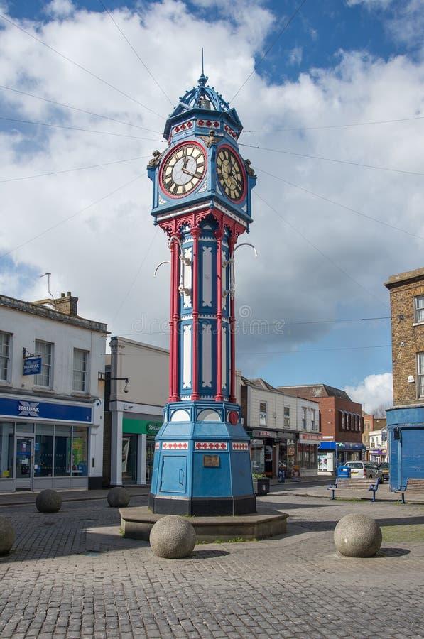 Tour d'horloge de ville de Sheerness photos libres de droits