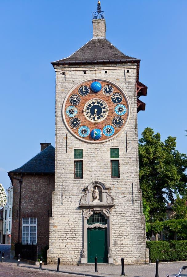 Tour d'horloge de Zimmer, Lier, Belgique photo stock