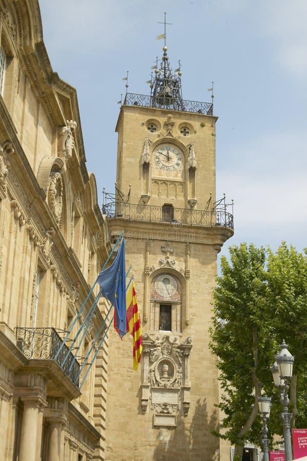 Tour d'horloge du 16ème siècle, Aix en Provence, France photographie stock libre de droits