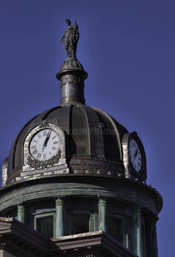 Tour d'horloge du tribunal du comté de Lancaster images libres de droits
