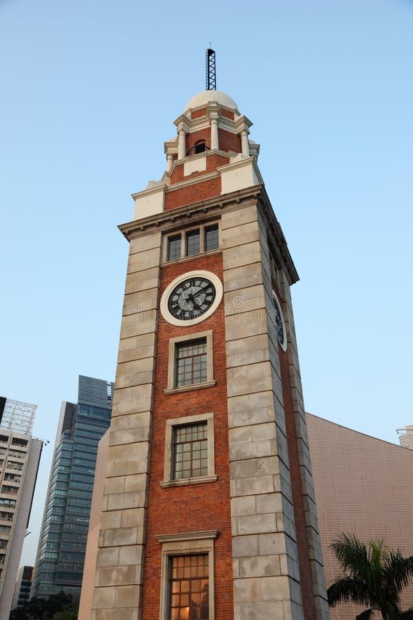 Tour d'horloge en Hong Kong photo stock
