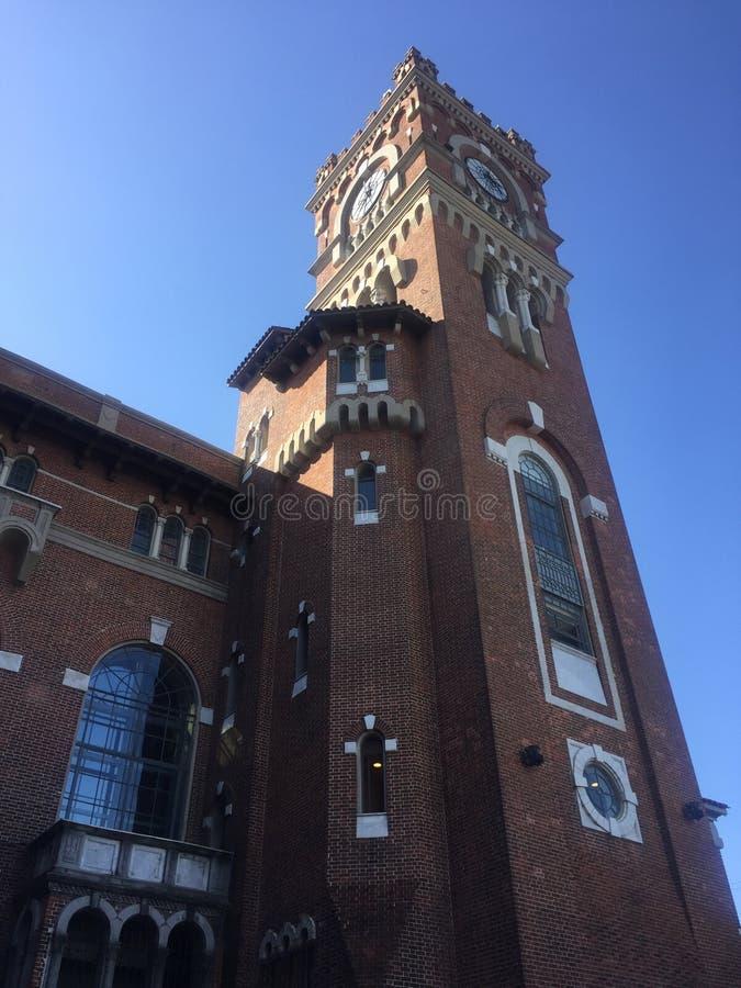 Tour d'horloge en Usina del Arte photographie stock