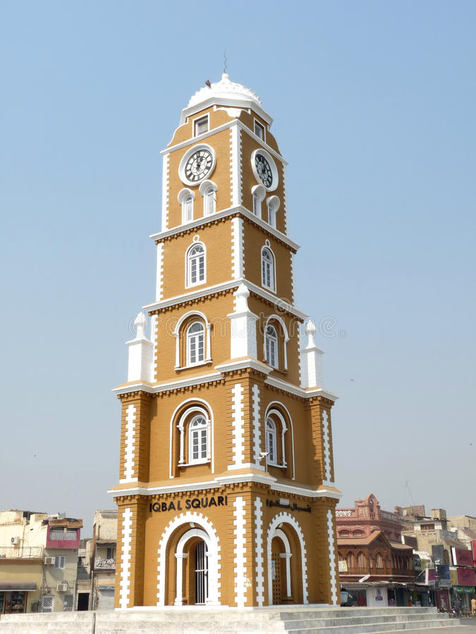 Tour d'horloge Sialkot photo libre de droits