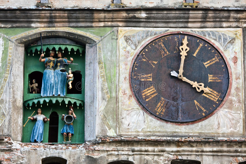 Tour d'horloge, Sighisoara, Roumanie images stock