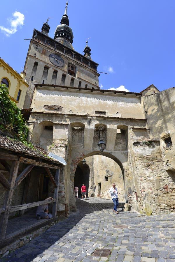 Tour d'horloge, Sighisoara, Roumanie photographie stock libre de droits