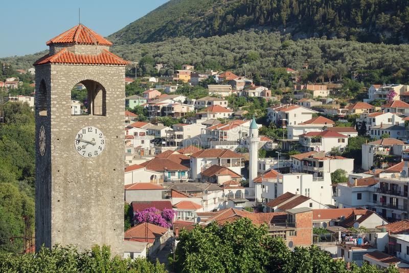Tour d'horloge d'Ulcinj, Monténégro photographie stock libre de droits