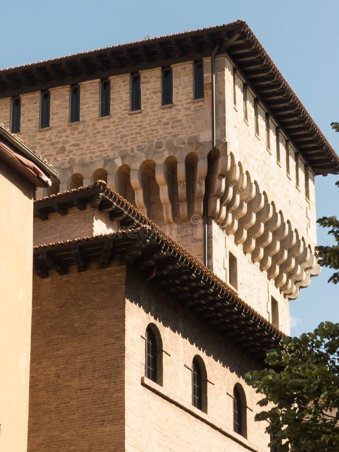 TOUR D'OCHANDA, TOWER-HOUSE MÉDIÉVAL image libre de droits