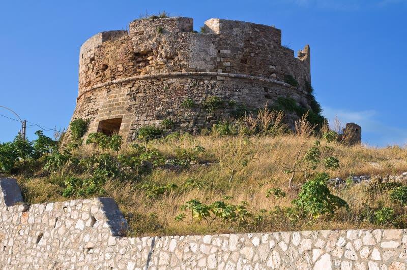 Tour d'Omomorto. Santa Maria di Leuca. La Puglia. L'Italie. photos stock