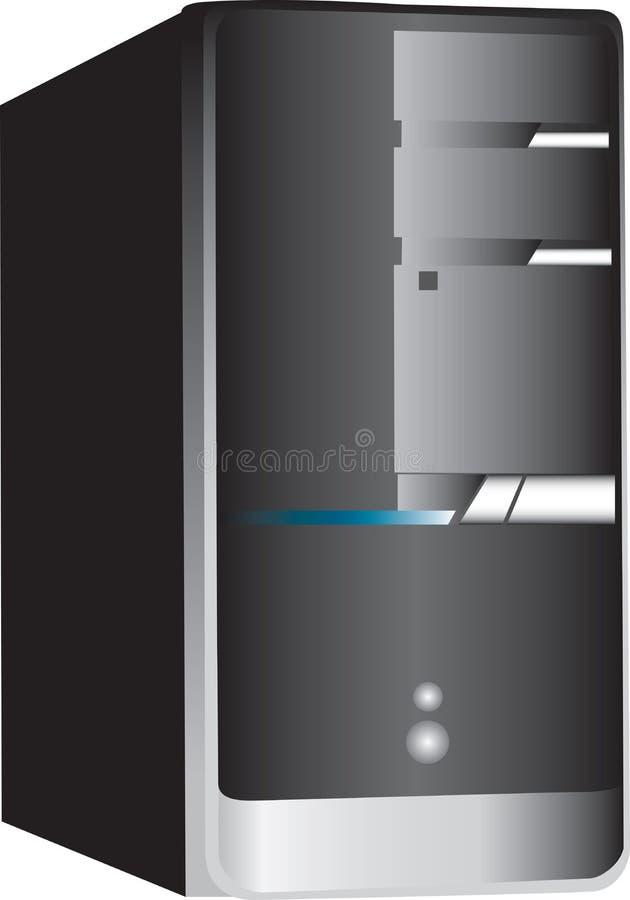 Tour d'ordinateur de PC sur le blanc illustration de vecteur