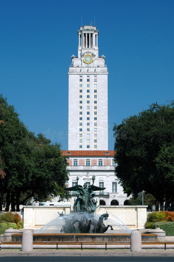 Tour d'Université du Texas photo libre de droits