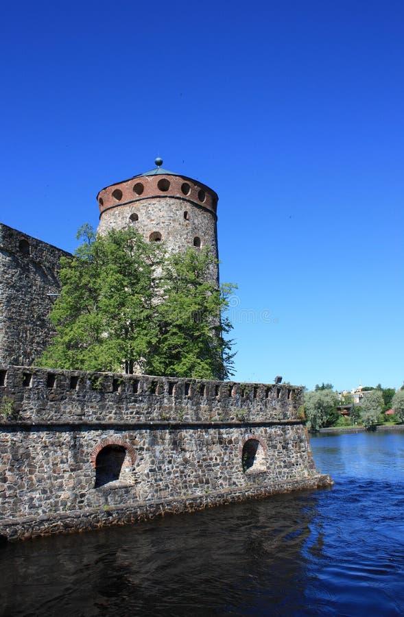 Tour dans le château d'Olavinlinna photographie stock libre de droits