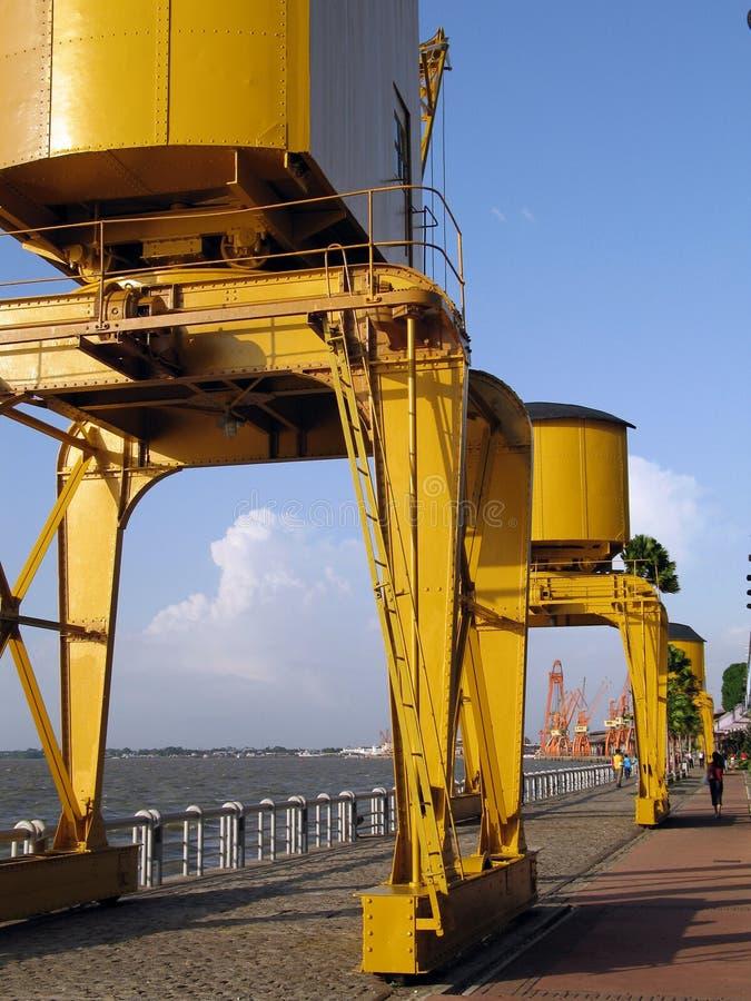 Tour dans le dock images stock