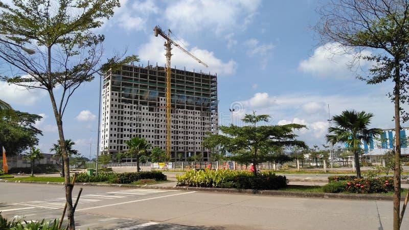 tour de bâtiment de construction photographie stock