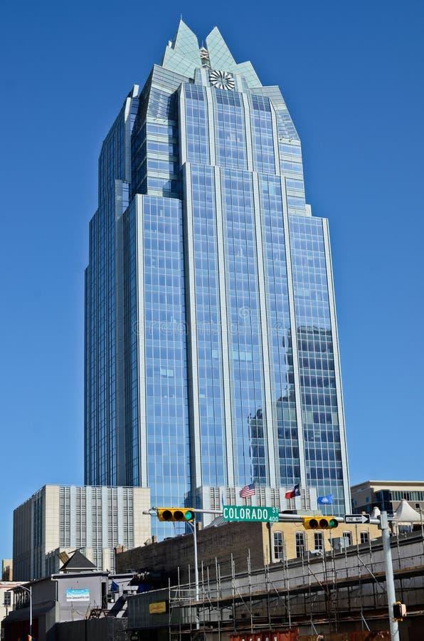 Tour de banque de Frost dans Austin photos stock