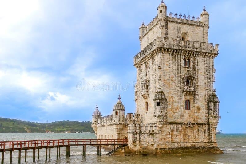 Tour de Belem sur le Tage, Belem, Lisbonne, Portugal image stock