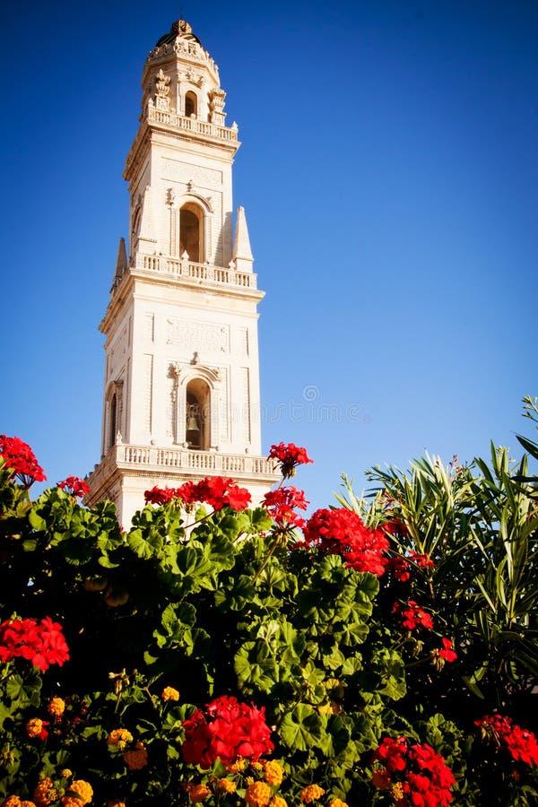 Tour de Bell, cathédrale de Lecce, Italie images stock
