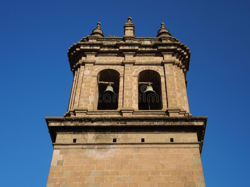 Tour de Bell dans Cusco, Pérou images libres de droits
