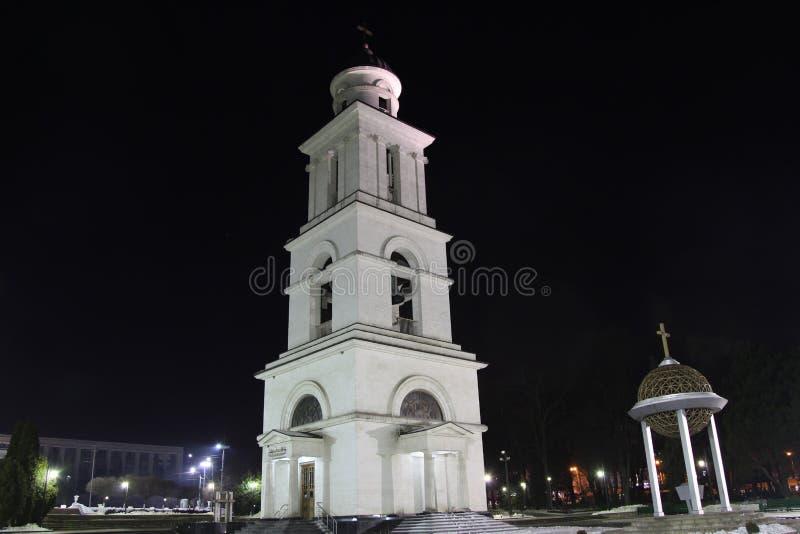 Tour de Bell de cathédrale de nativité à Kishinev ChiÈ™inău Moldau photos libres de droits