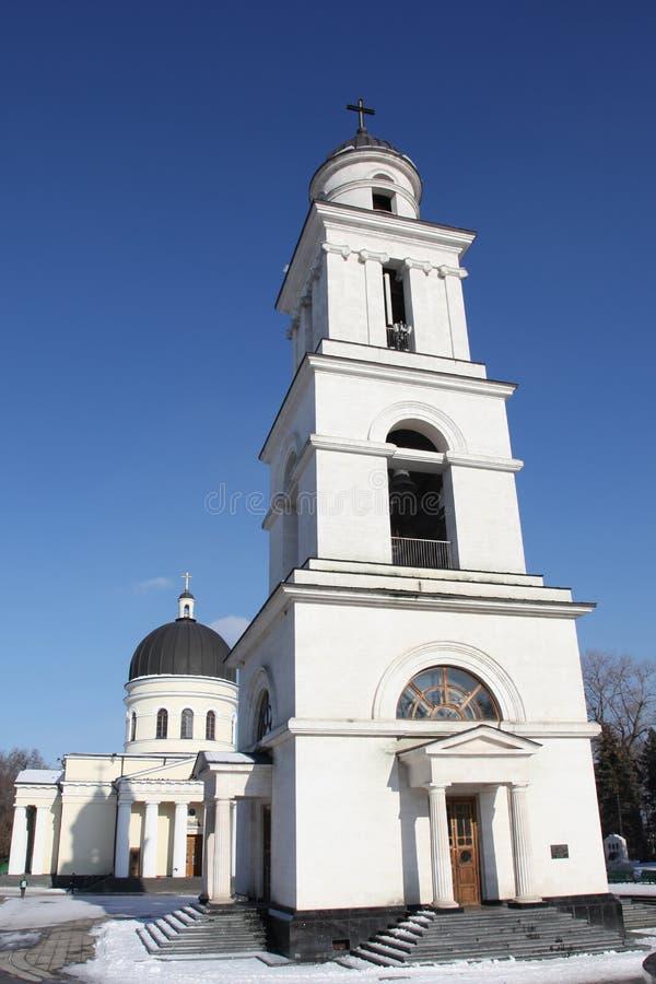 Tour de Bell de cathédrale de nativité à Kishinev ChiÈ™inău Moldau photo stock