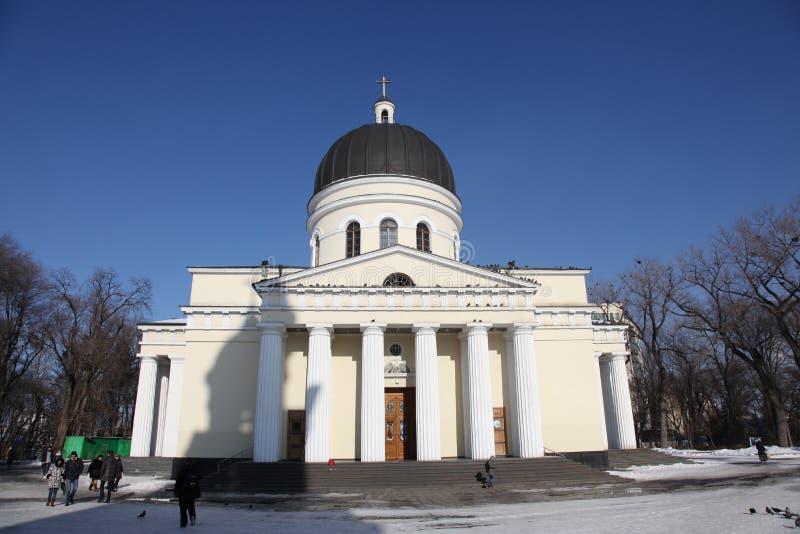 Tour de Bell de cathédrale de nativité à Kishinev ChiÈ™inău Moldau photo libre de droits