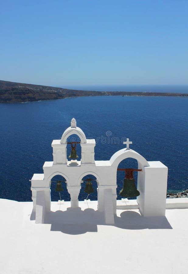 Tour de Bell de l'église grecque images libres de droits