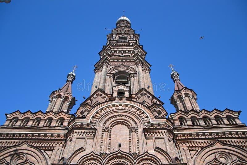 Tour de Bell de la cathédrale de l'épiphanie images stock