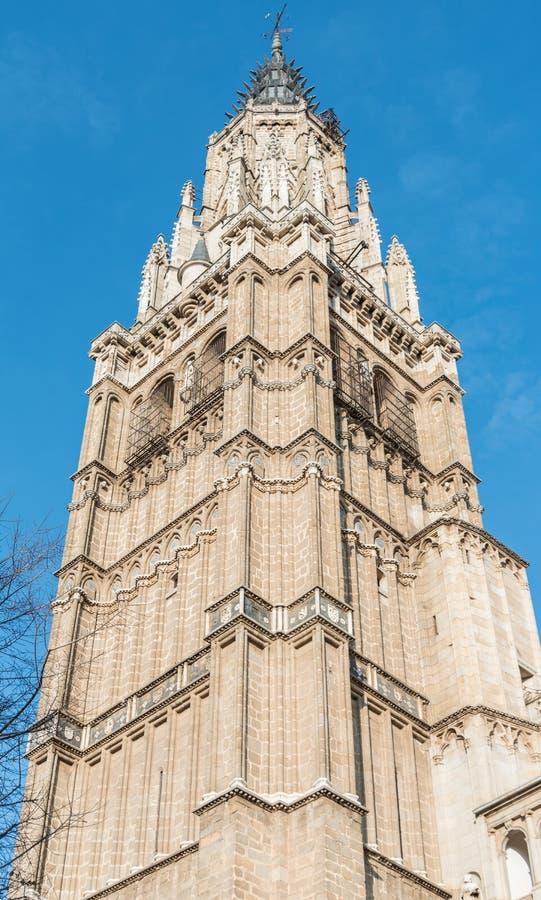 Tour de Bell de Toledo Cathedral, Espagne image libre de droits