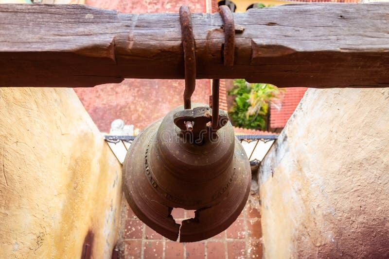 Tour de Bell de l'église de la trinité sainte de Trinidad Cuba photos stock