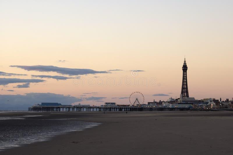 tour de Blackpool de plage photographie stock libre de droits