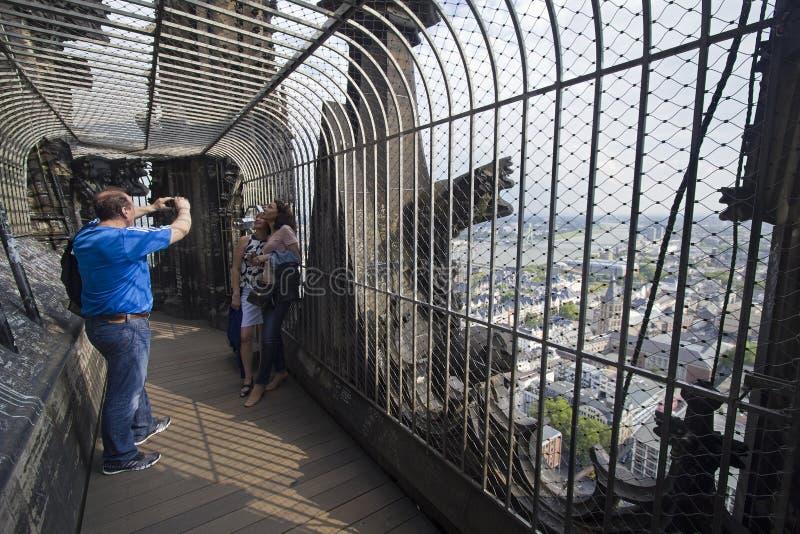 Tour de cathédrale de Cologne photos stock