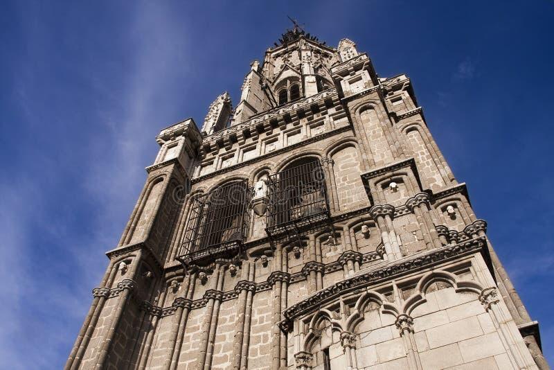 Tour de cathédrale de Toledo images libres de droits