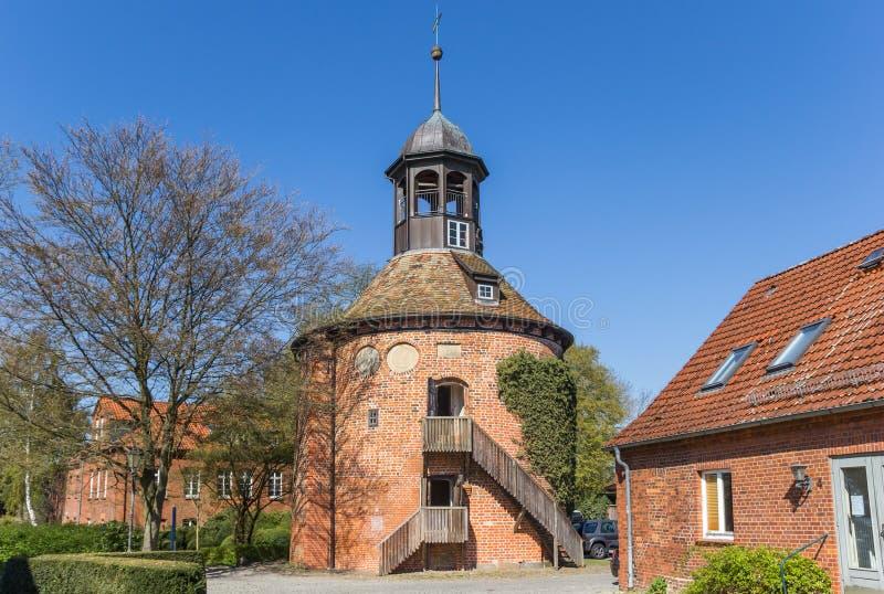 Tour de château dans la ville historique Lauenburg photographie stock libre de droits