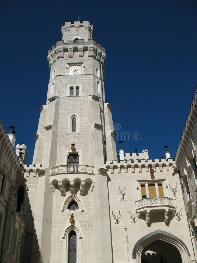 Tour de château de Hluboka photos libres de droits