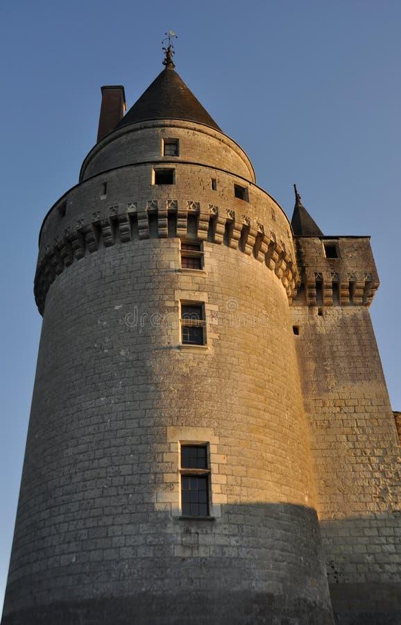 Tour de château de Langeias image libre de droits