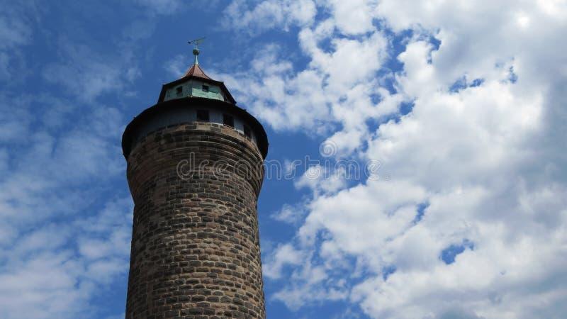 Tour de château de Nuremberg images libres de droits