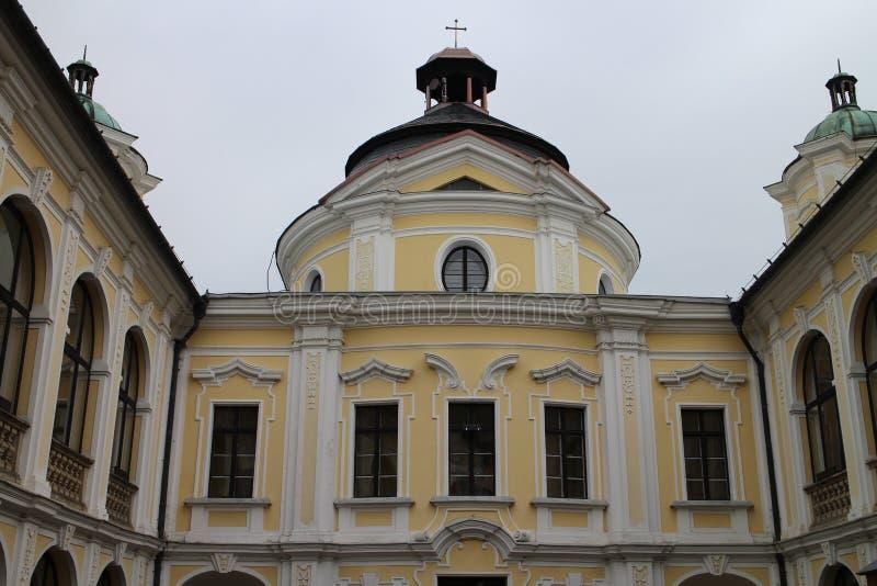 Tour de château de KravaÅ™e, Silésie image libre de droits