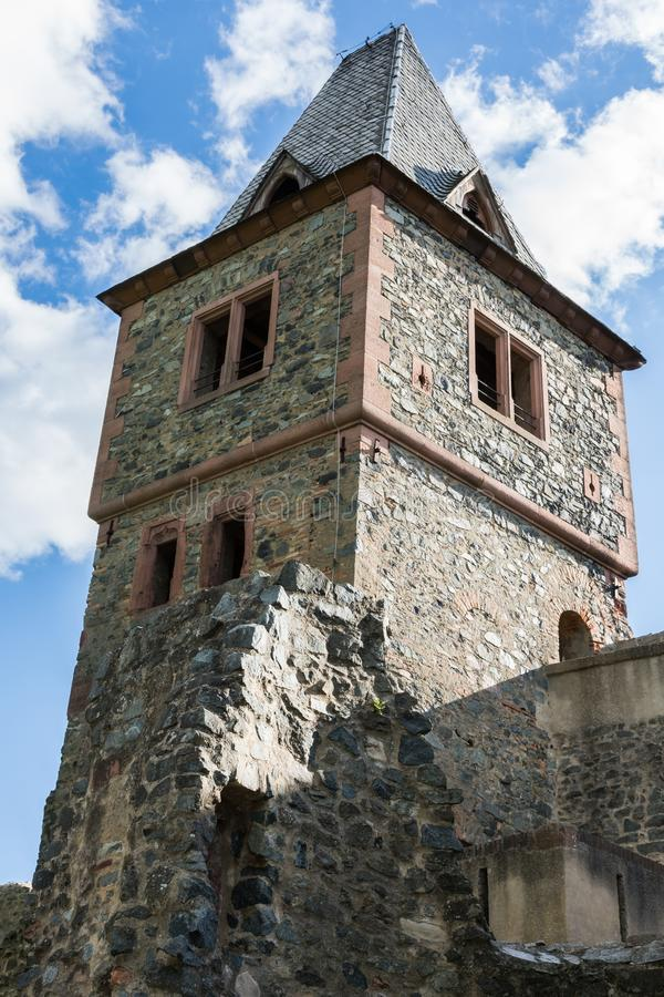 Tour de ch?teau Frankenstein dans Odenwald, Hesse, Allemagne photos stock