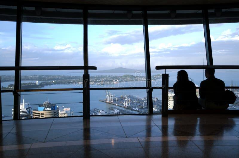 Tour de ciel - Auckland Nouvelle-Zélande NZ photo libre de droits