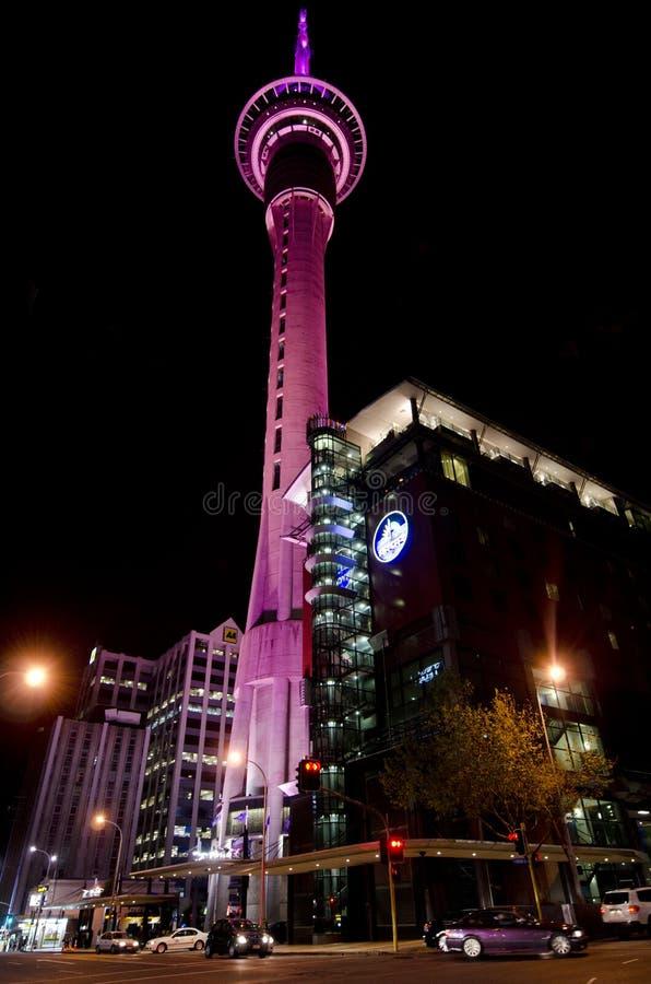 Tour de ciel - Auckland Nouvelle-Zélande NZ images stock