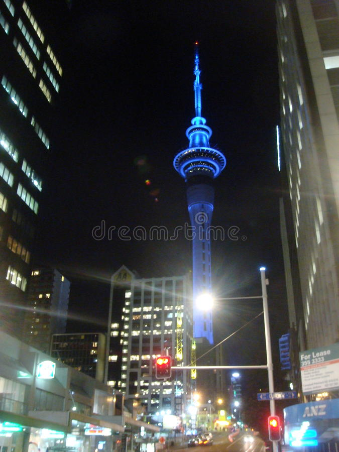 Tour de ciel, Auckland, NZ photos libres de droits