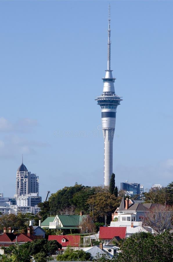 Tour de ciel d'Auckland photographie stock