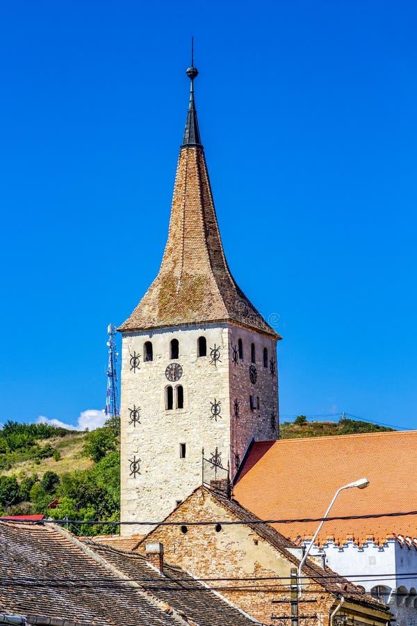 Tour de citadelle d'Aiud en Roumanie photos libres de droits